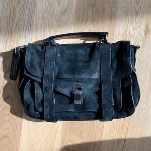 Proenza Schouler Black Suede Medium PS1 Satchel
